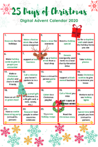 Read more about the article 25 Days of Christmas: Free Digital Advent Calendar (2020)